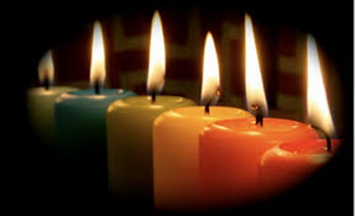 color of the candles